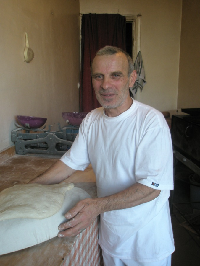 Baker Timur Jikhadze in his shop in Batumi